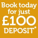 Book your holiday in Wales for just £1OO deposit!