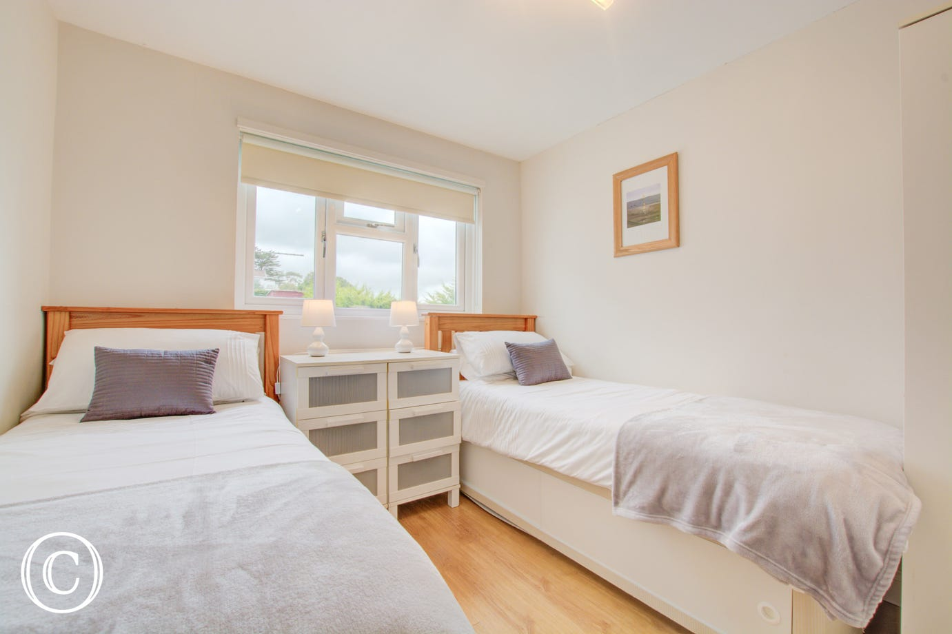 twin bedroom - holiday cottage in Saundersfoot