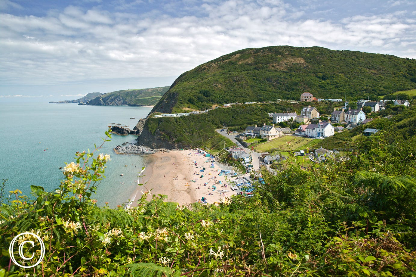 The beach at Tresaith