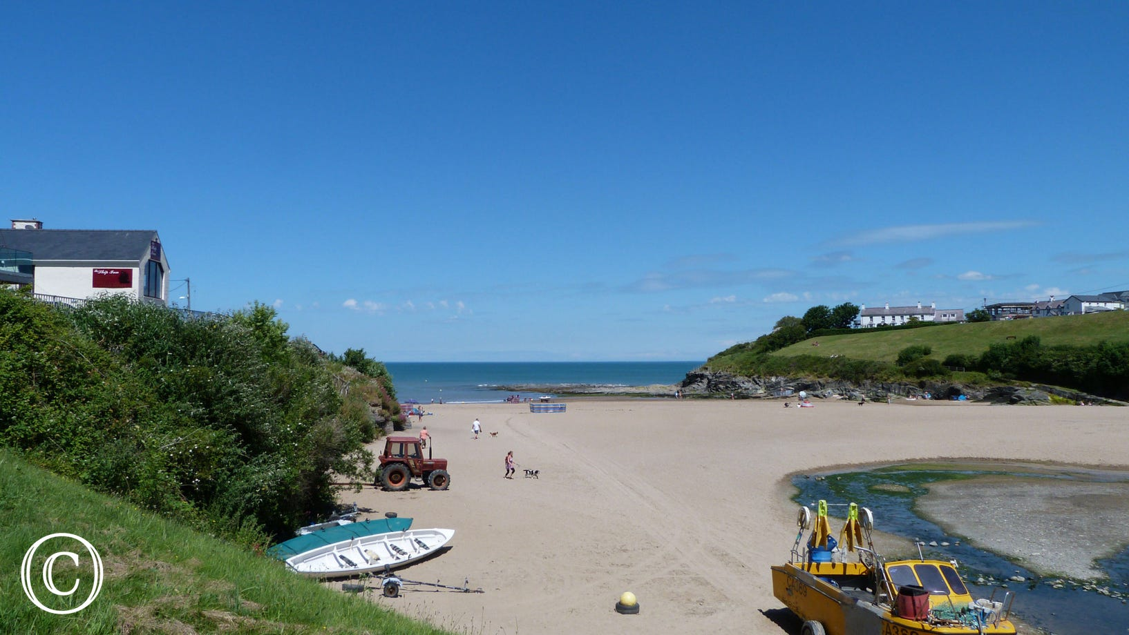 The beach in Aberporth