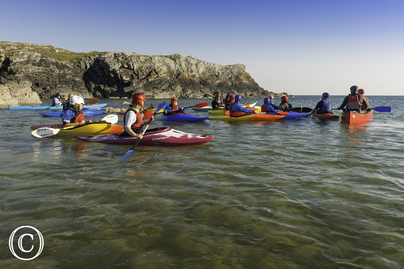 Sea Kayaking at Porth Dafarch, Anglesey