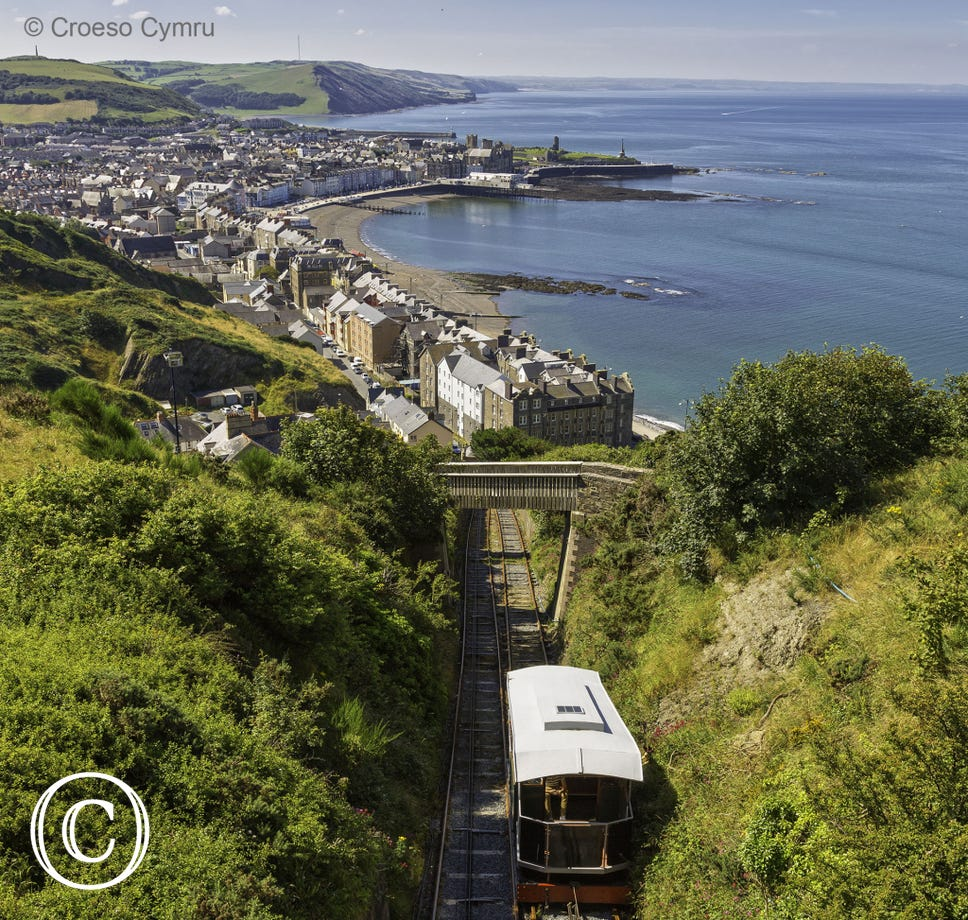 Cliff Railway in Aberystwyth - the only one of its kind in Wales