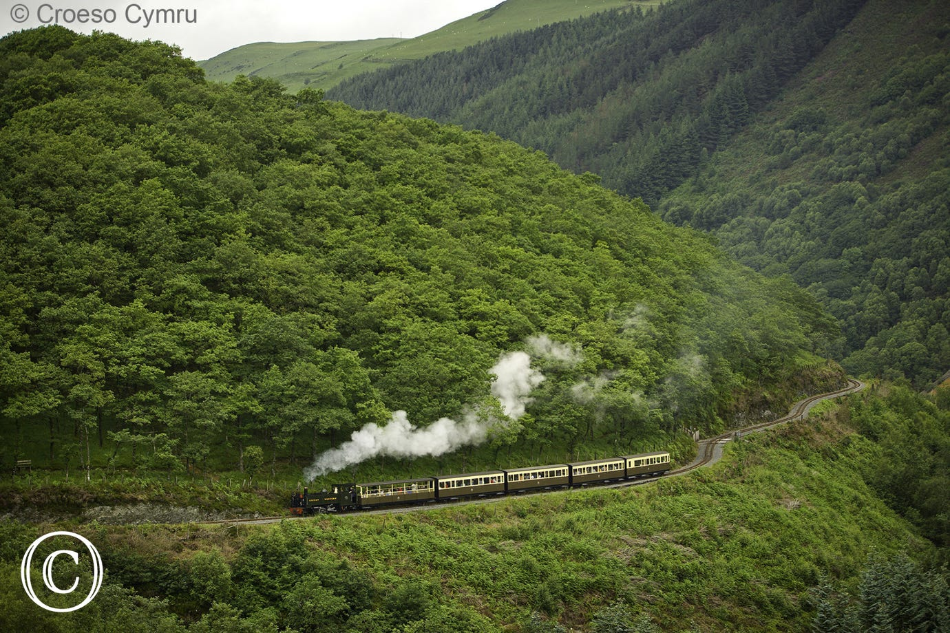 Catch the steam train from Aberystwyth to Devils Bridge