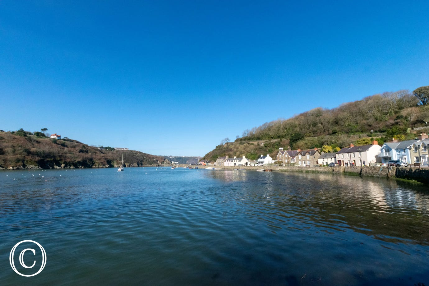 The lower town quayside in Fishguard