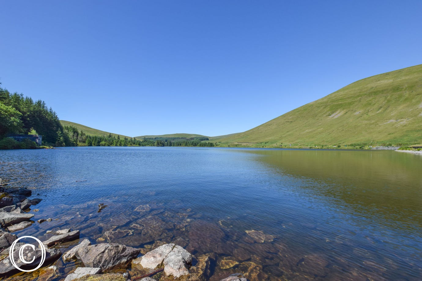 one of the lakes in the Brecon Beacons