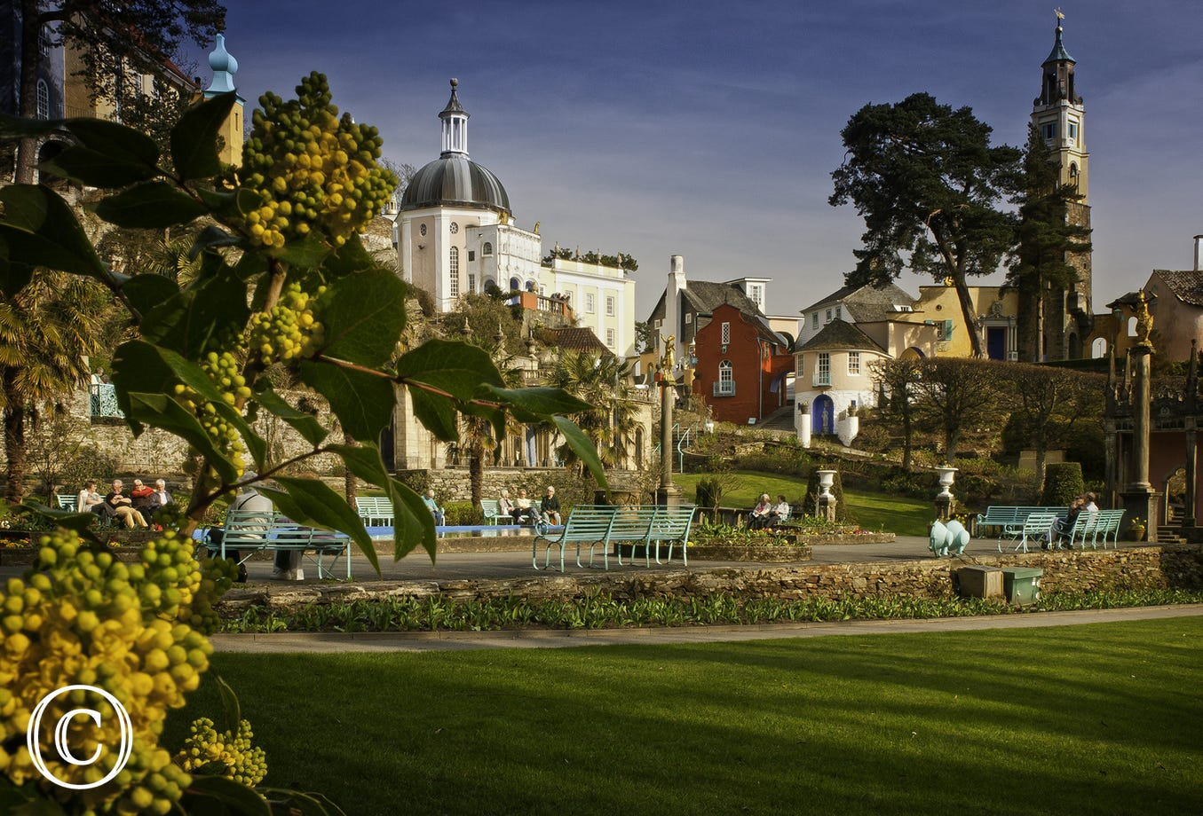 The Italian village of Portmeirion is within 15 miles