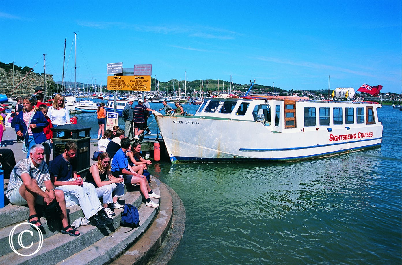 Hop on a boat for a sightseeing cruise around Conwy