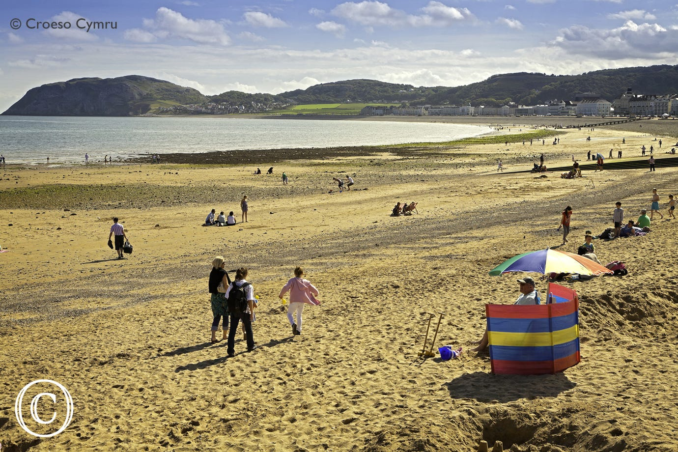 One of two beaches in Llandudno (4.5 miles)