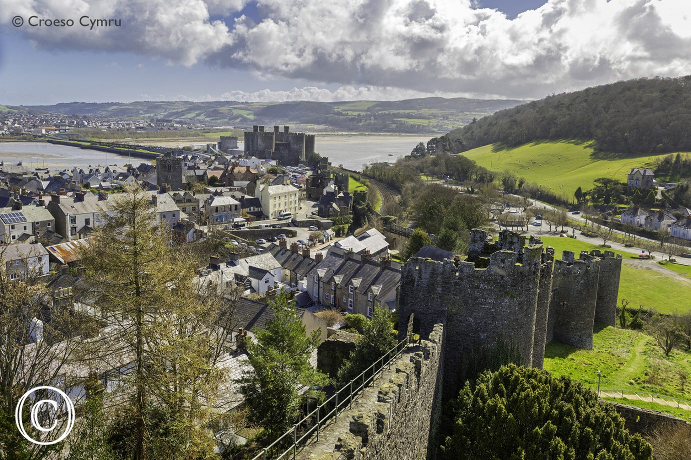 The medieval castle town of Conwy