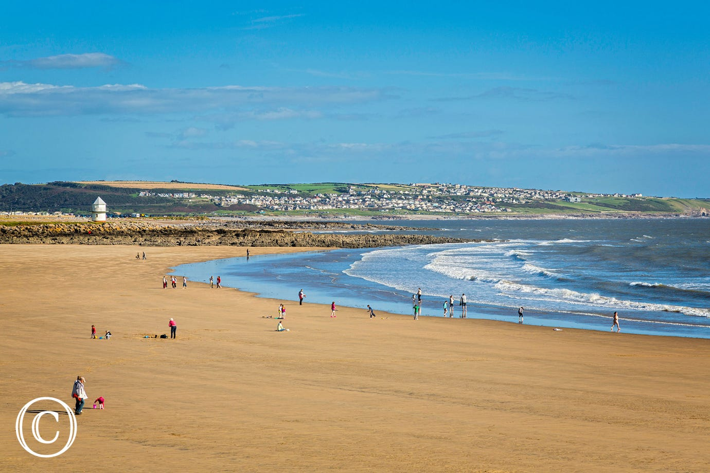 One of the sandy beaches in Porthcawl