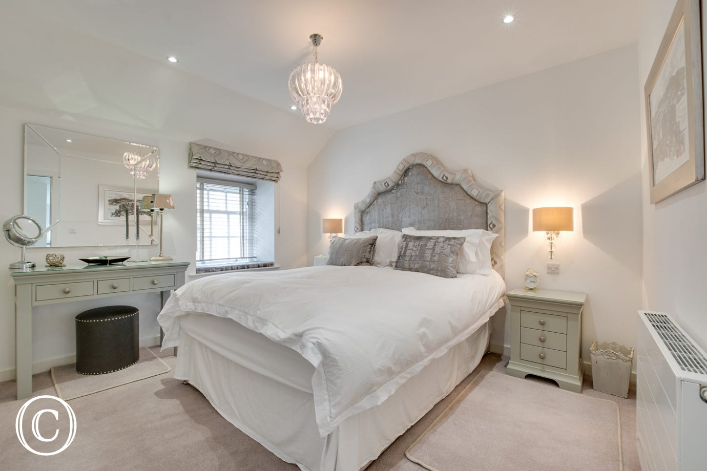 Large bedroom with king size bed