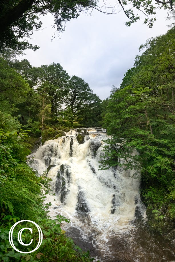 Swallow Falls (Rhaeadr Ewynnol) - less than 2 miles from the doorstep.
