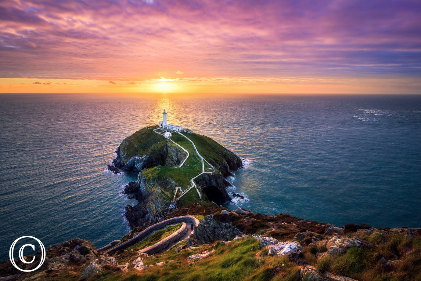Sunset at South Stack near Holyhead, Anglesey