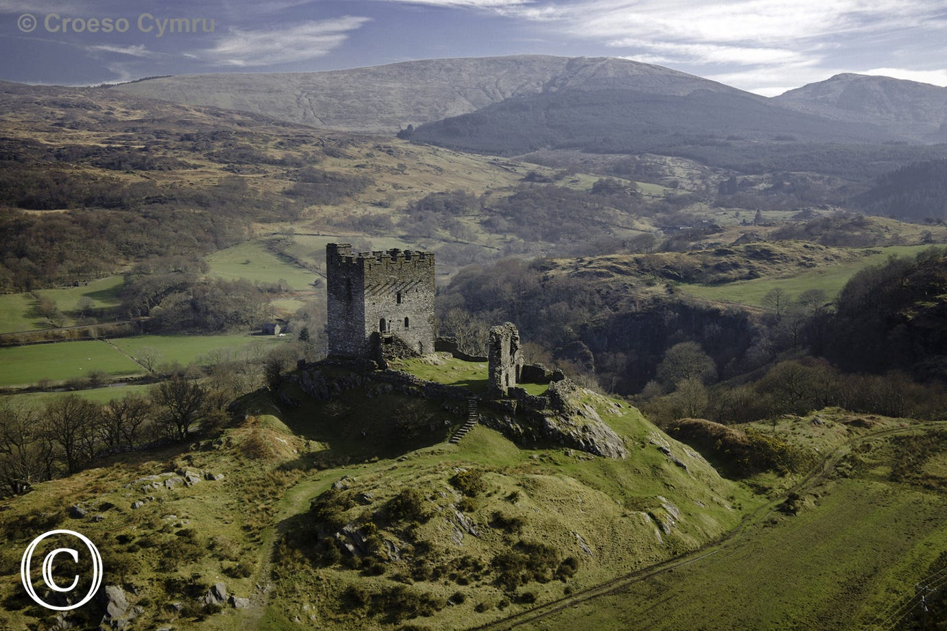 Dolwyddelan Castle, just 7 miles from your lodge