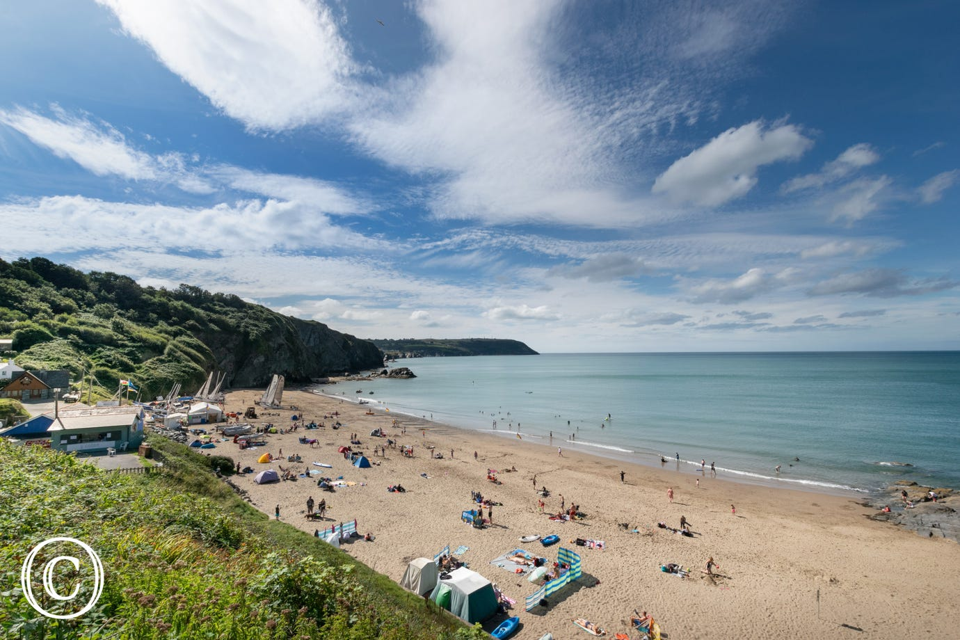 The Beach at Tresaith within walking distance