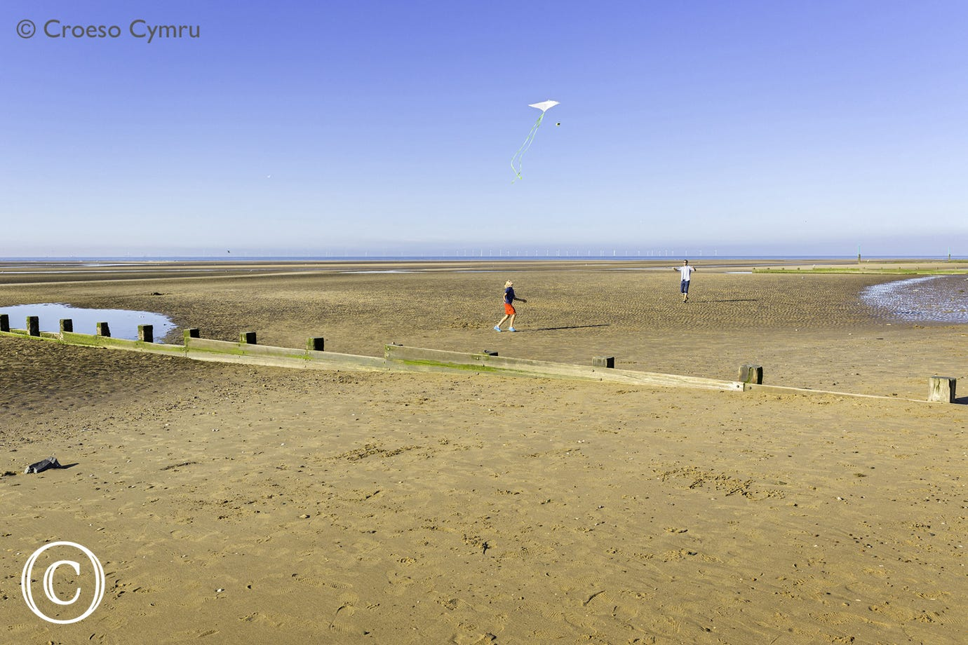 Rhyl Beach, 14.5 miles from your doorstep