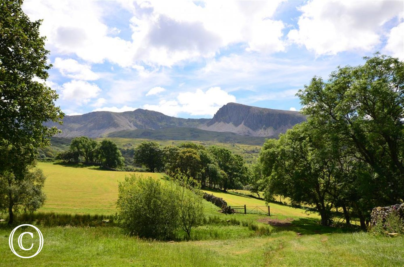 The farm sits on the lower slopes of stunning Cadair Idris