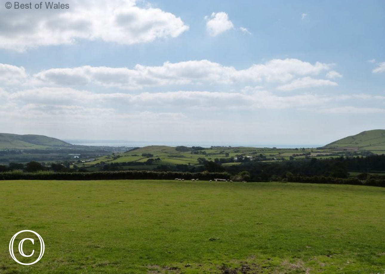 The magnificent view from the cottage towards Cardigan Bay