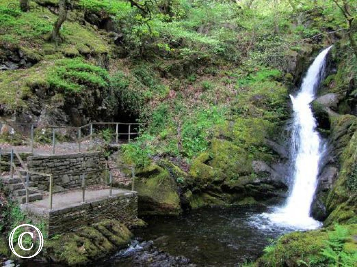 Dolgoch Falls, a beauty spot 5 miles from your Tywyn cottage