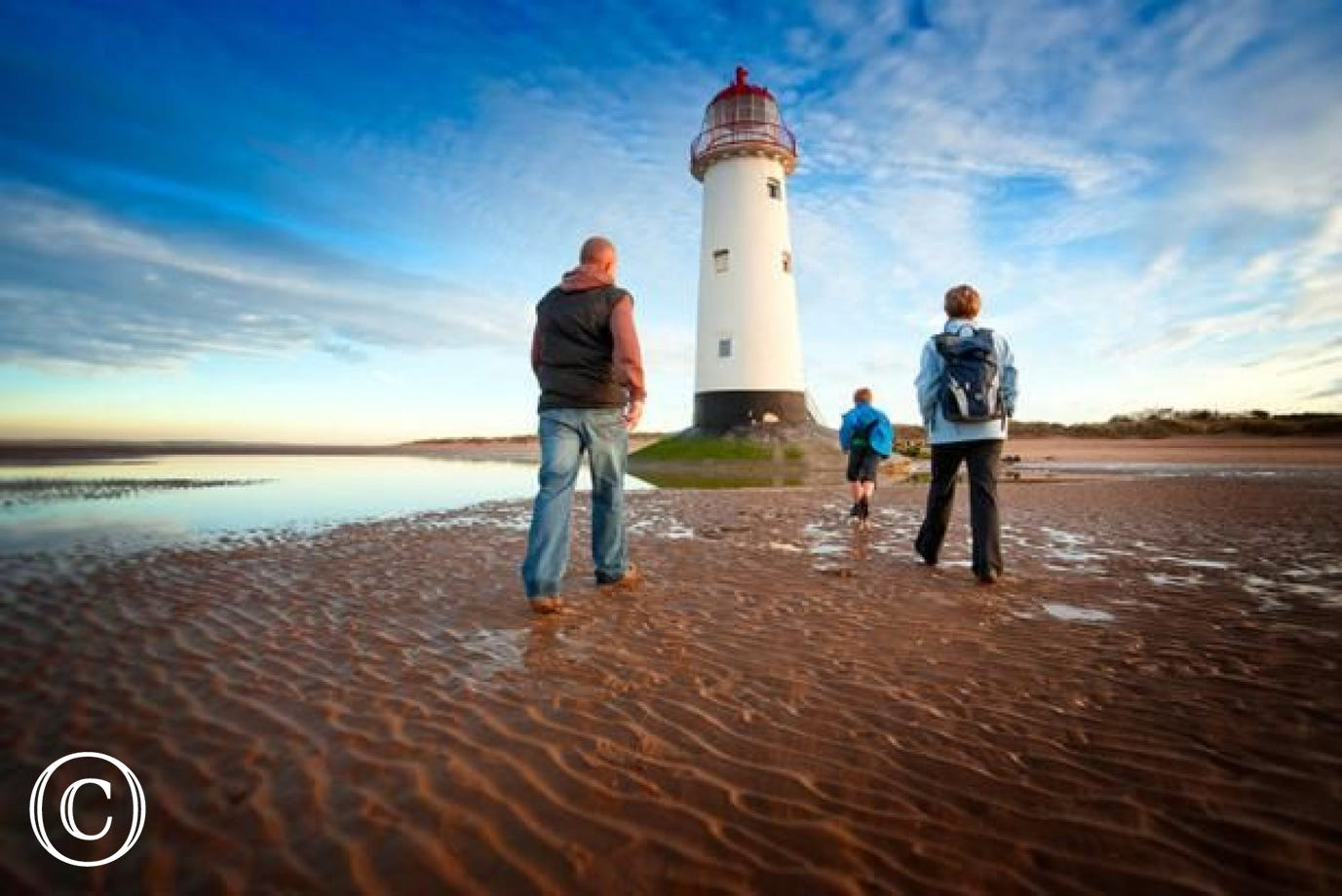 Talacre Lighthouse - join the Wales Coastal Path just 10 miles away