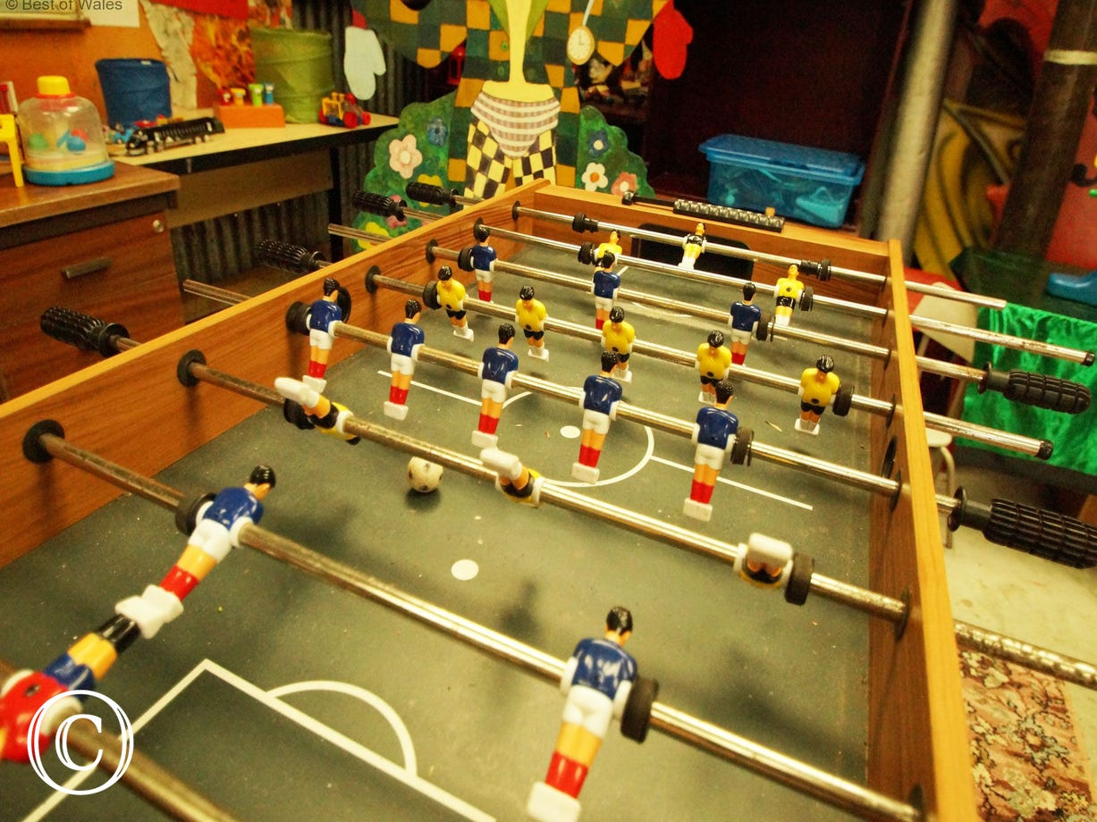 Table football in the games room