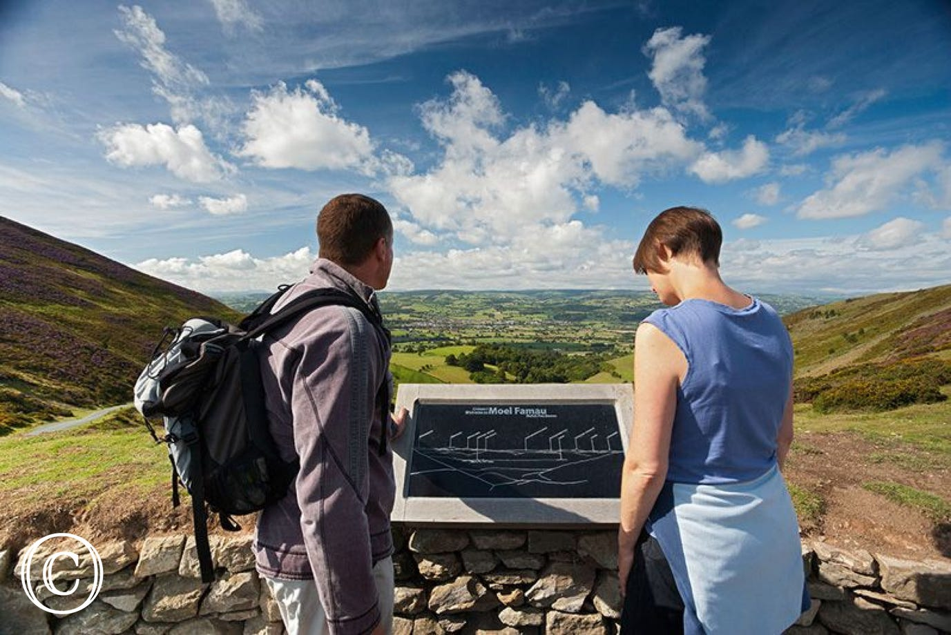 Admire the views over the Vale of Clwyd from Bwlch Pen Barras