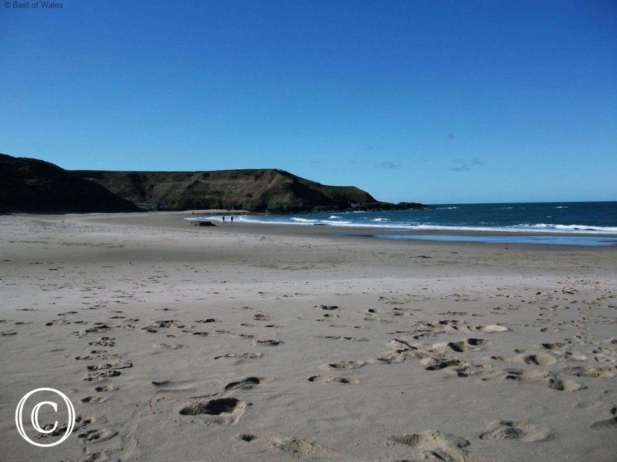 One of many beautiful sandy beaches along the Llyn Peninsula coastline