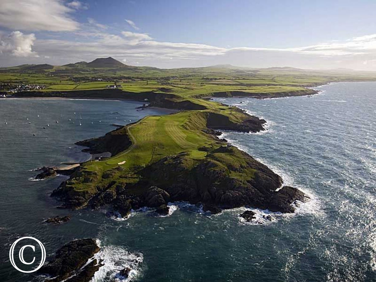 The famous 26 hole Championship Golf Course at Morfa Nefyn