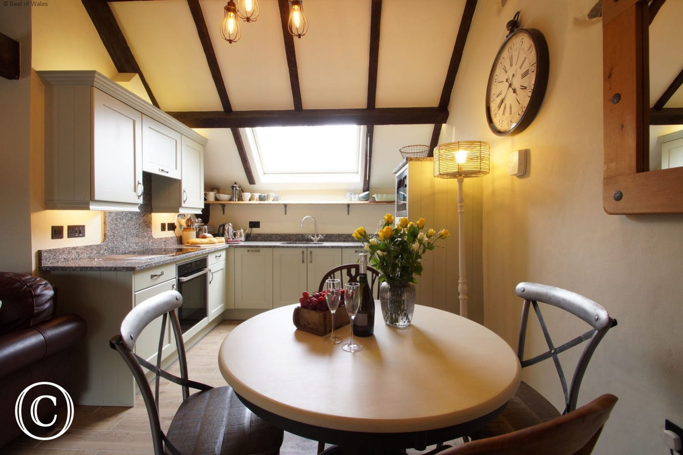 Dining area at your Llyn Peninsula accommodation