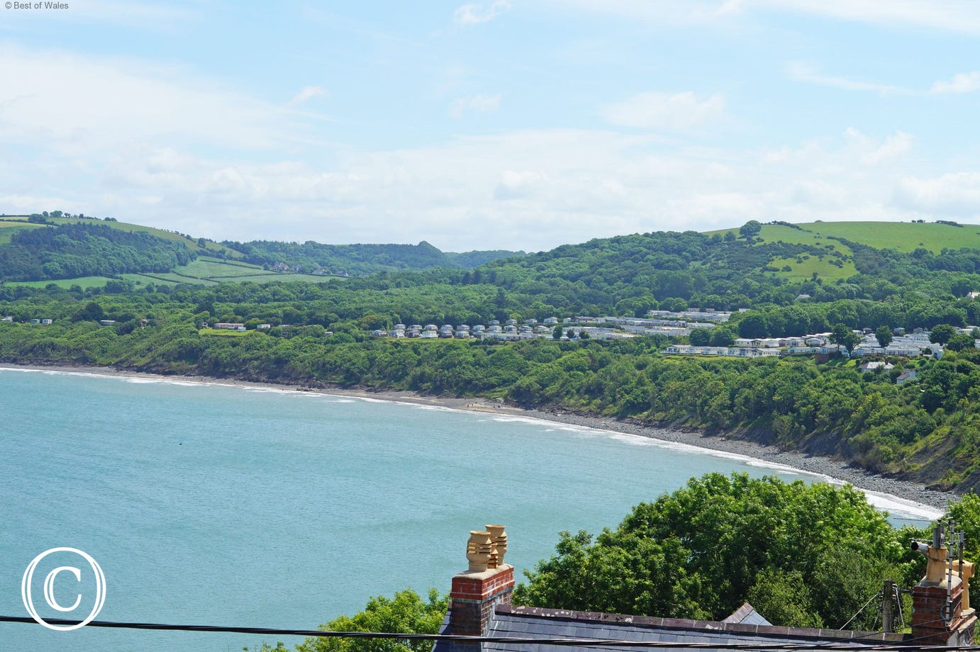 Seaside holiday home to rent - rooftop view from Rhianfa