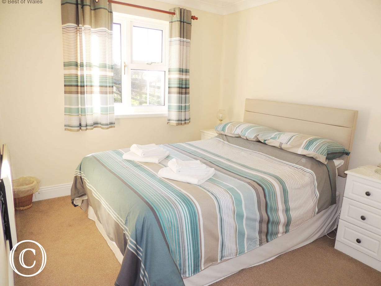 Double bedroom at Awelon cottage on the West Wales coast