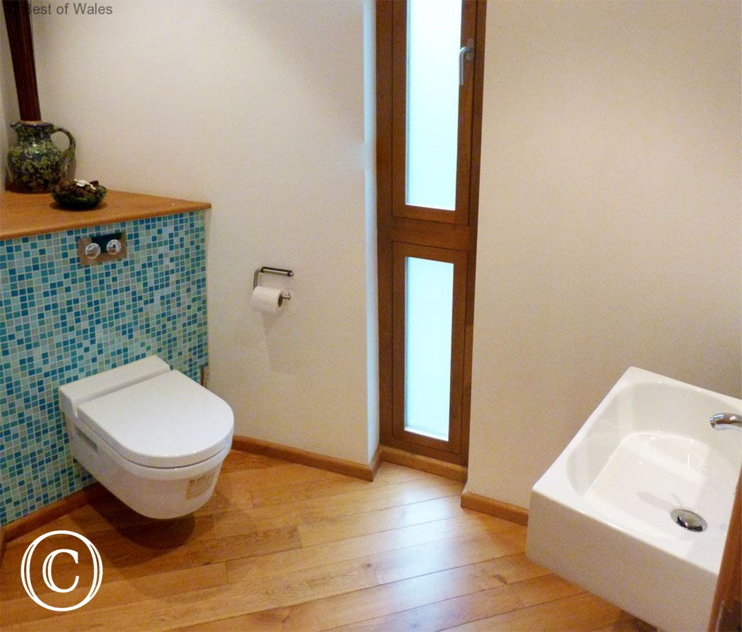 Downstairs WC- 5 star self catering, Brecon Beacons