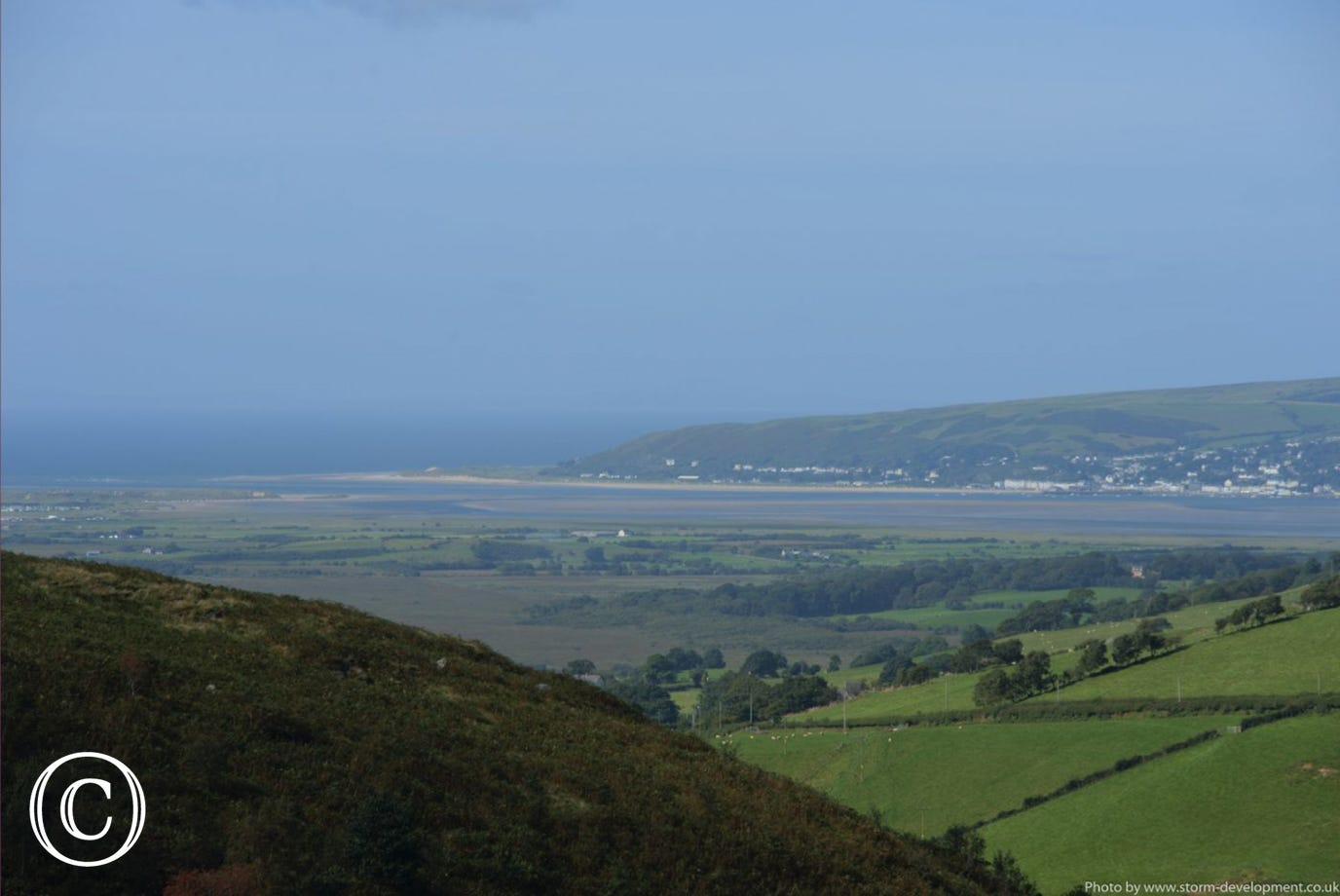 The same view towards Ynys Las and Aberdyfi on a different time of year. Photo by Storm Development