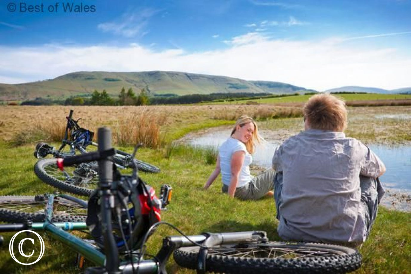 Excellent cycling in the Brecon Beacons , Wye and Usk Valleys