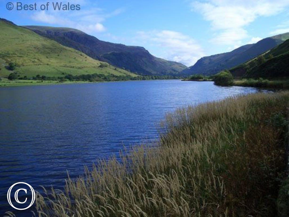 Talyllyn lake (3 miles) offers some of the best views in Wales.