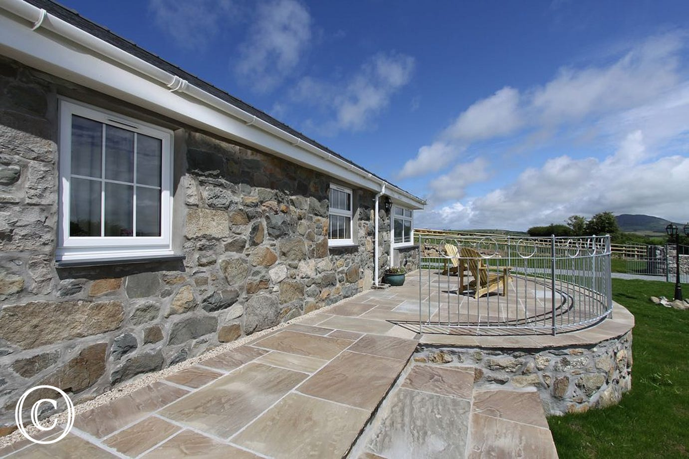 Beautiful countryside views from this North Wales holiday accommodation