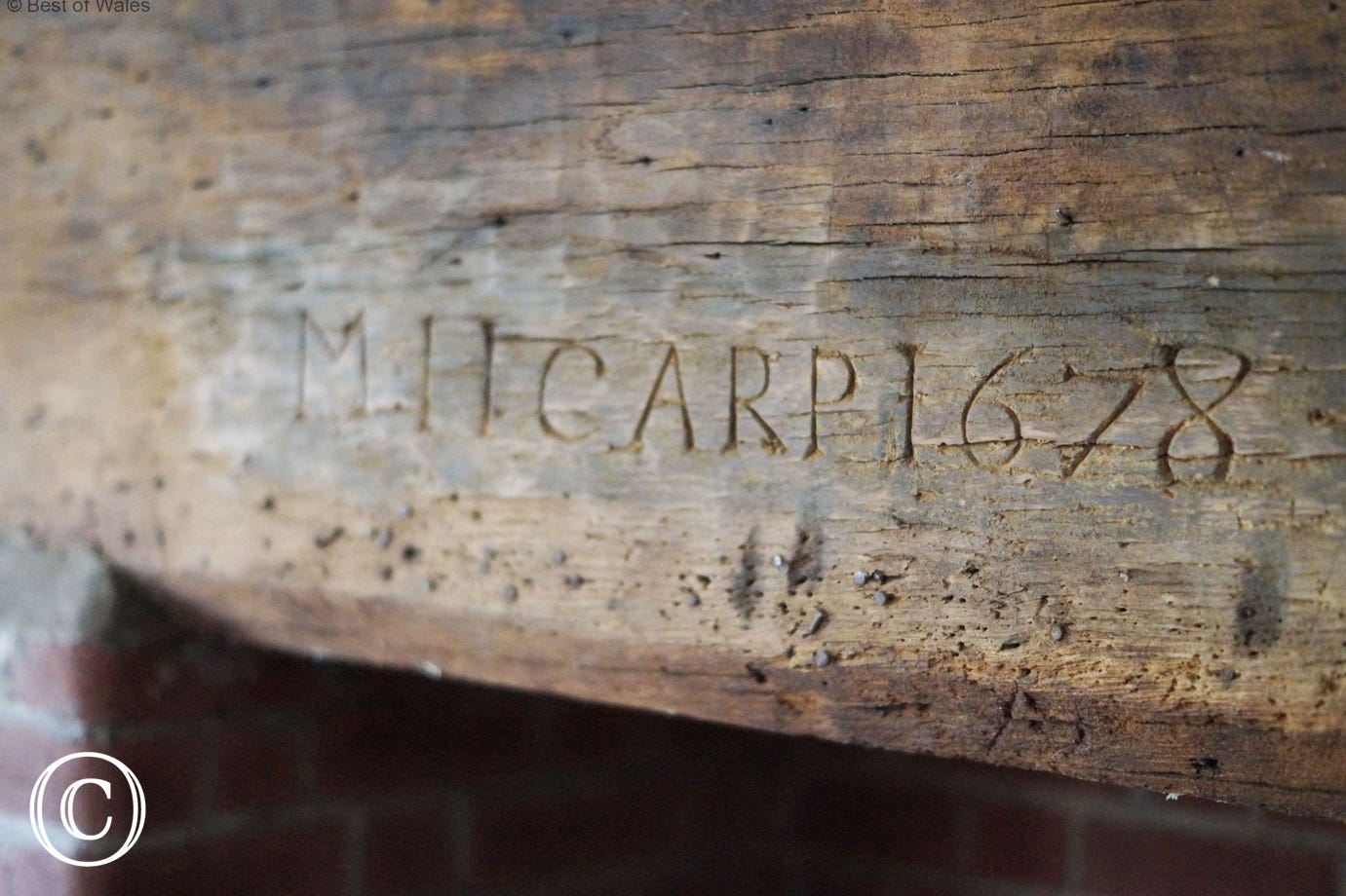 1678 date mark in dining room