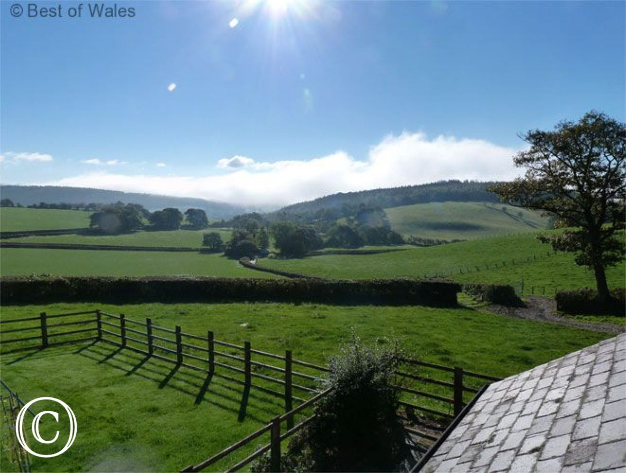 Stunning coutryside views from the cottage