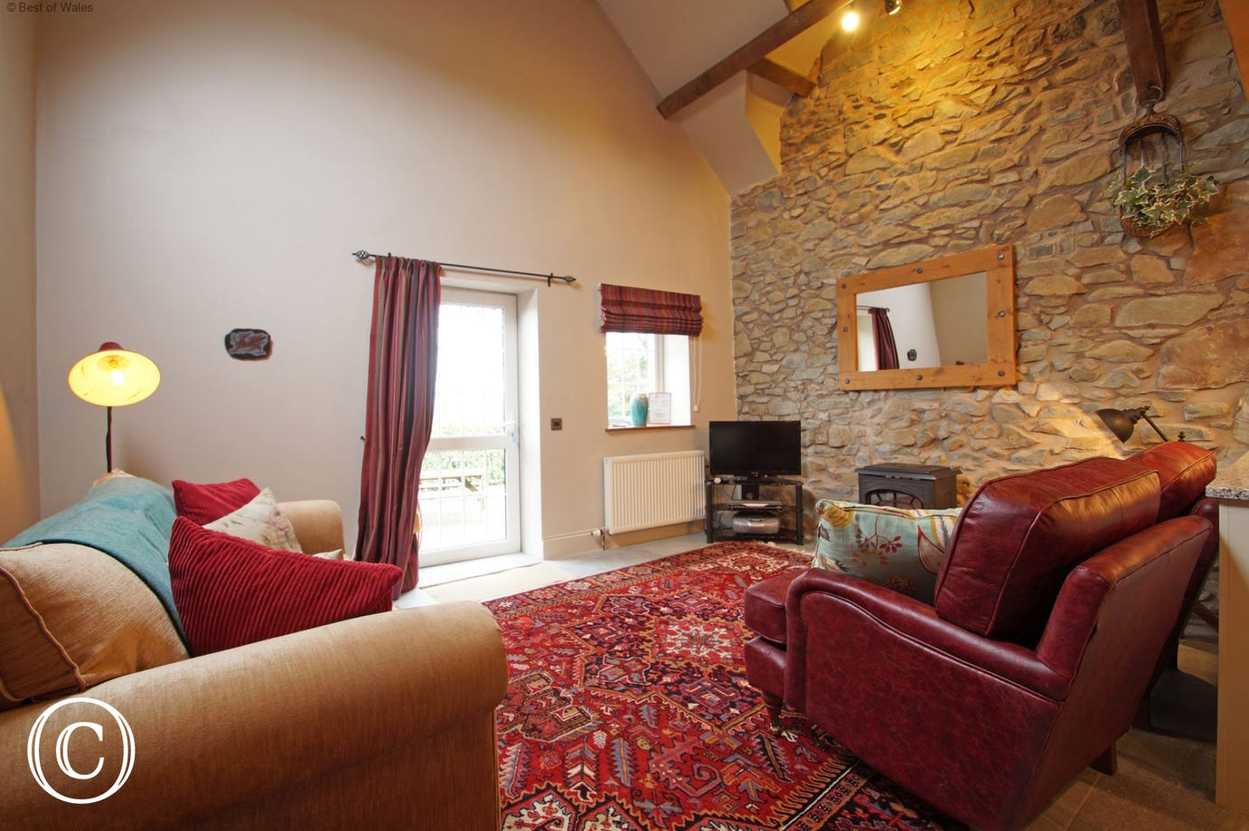 Lounge area at one of three North Wales self catering cottages