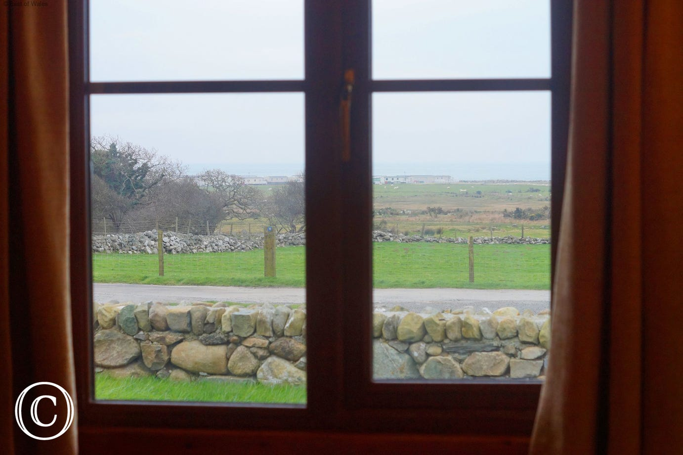 View from the bedroom window out towards the coast