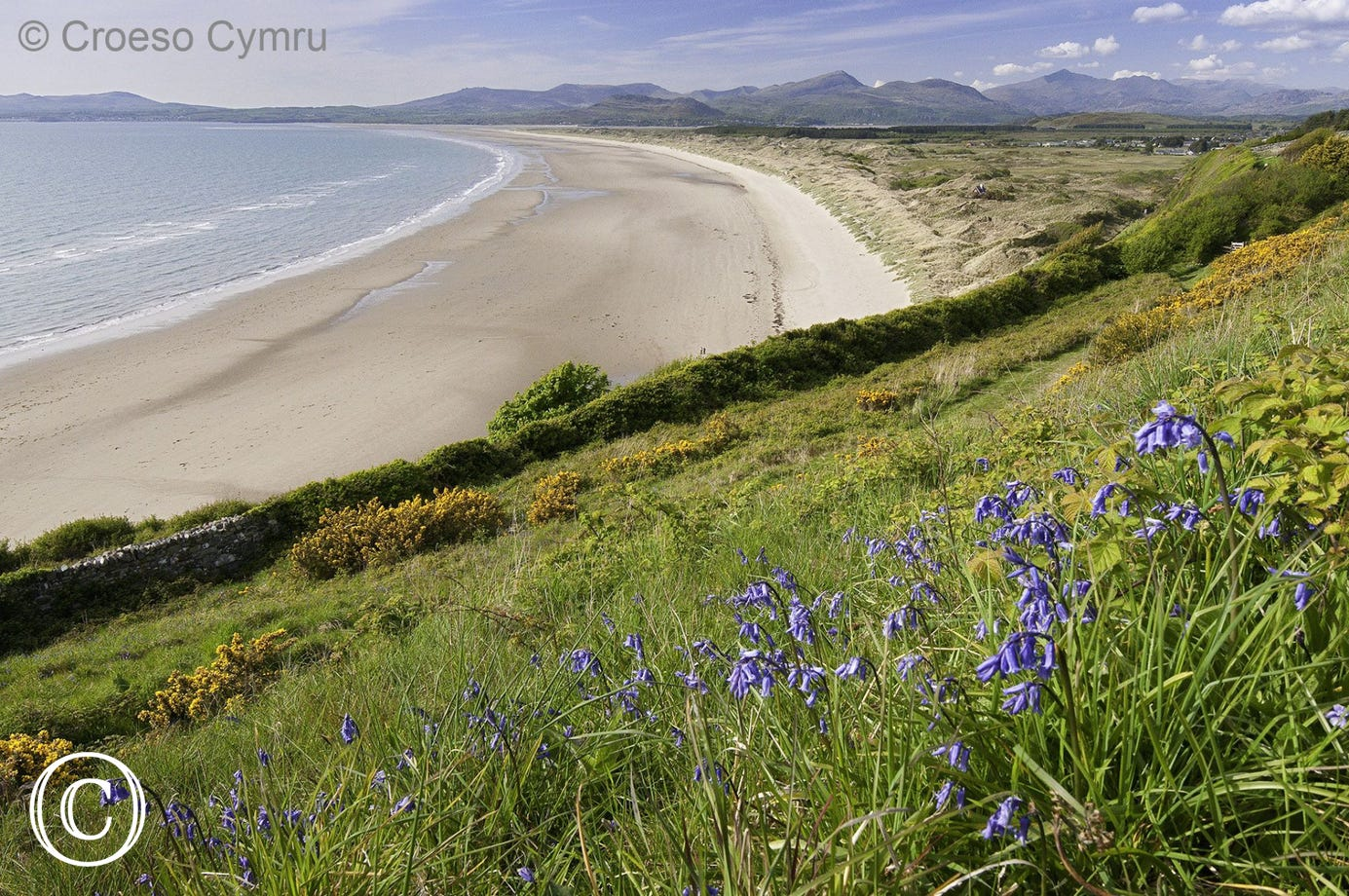 Another beautiful beach at Harlech, just a few miles up the coast