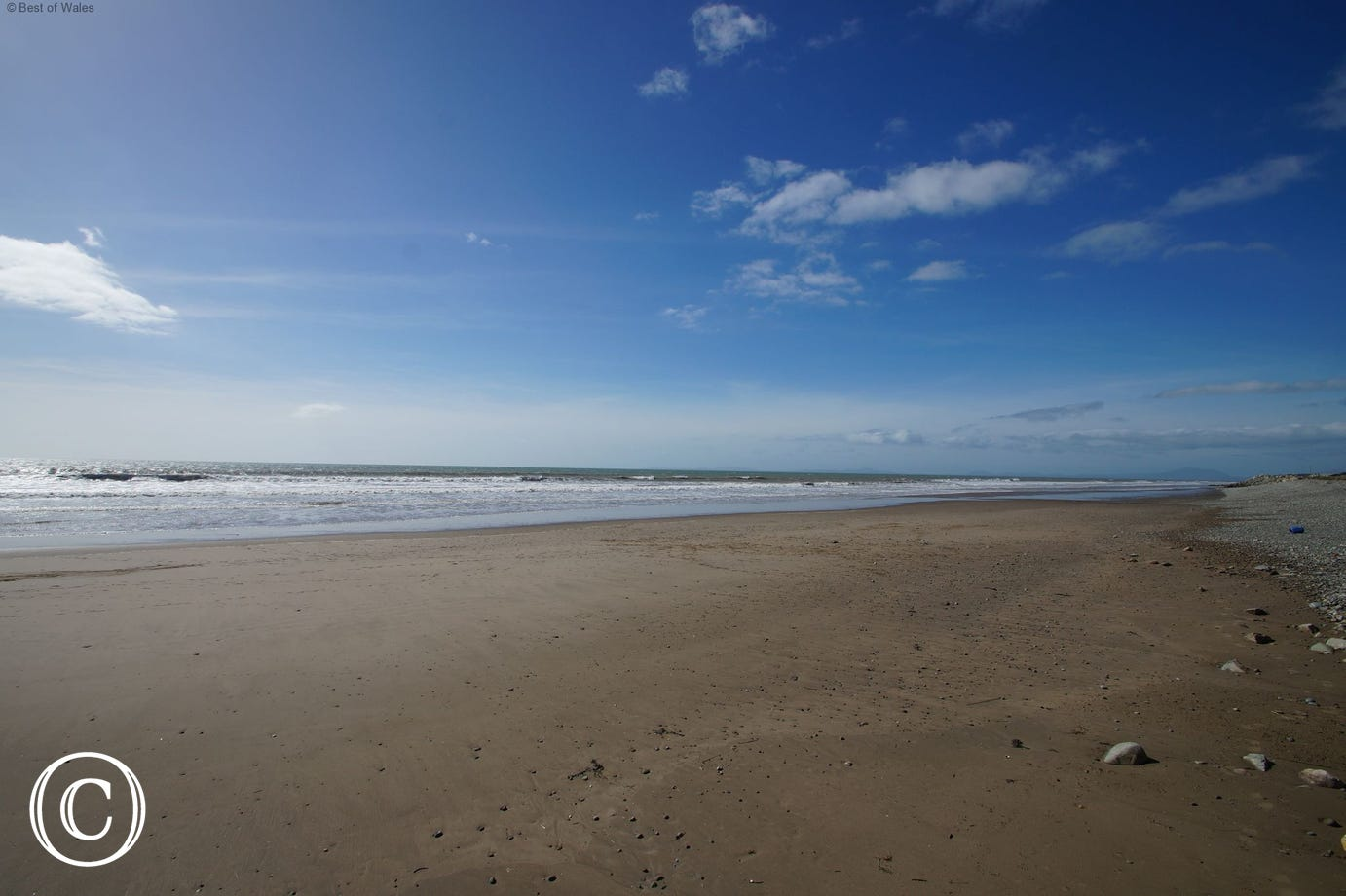 Tal-y-bont Beach - just a gentle 0.3 mile stroll from your cottage