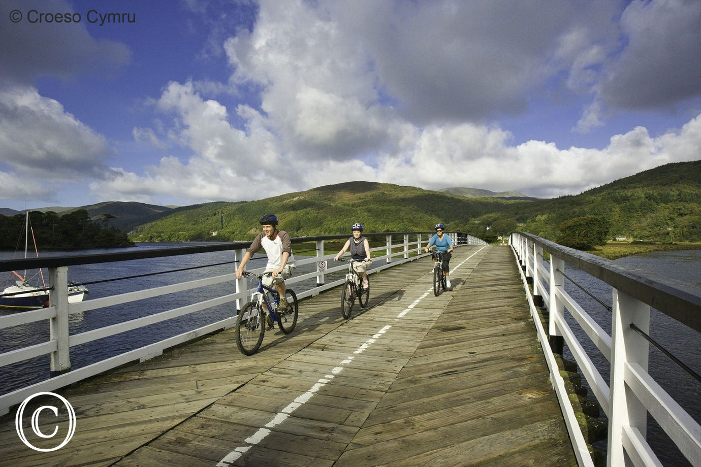 Cycle or walk along the Mawddach Trail from Dolgellau to Barmouth