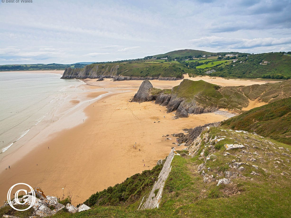 Three Cliffs in Gower