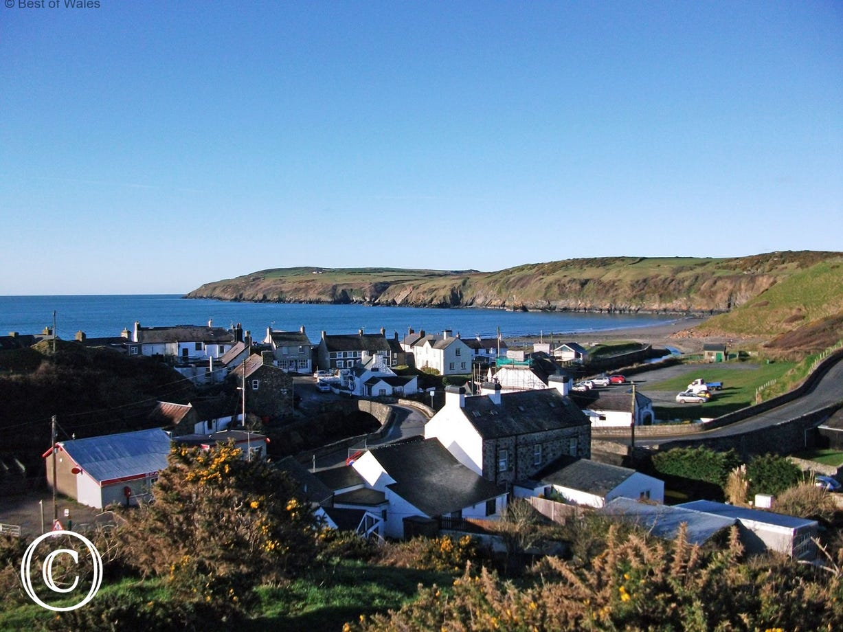 The picturesque seaside village of Aberdaron just a few miles away