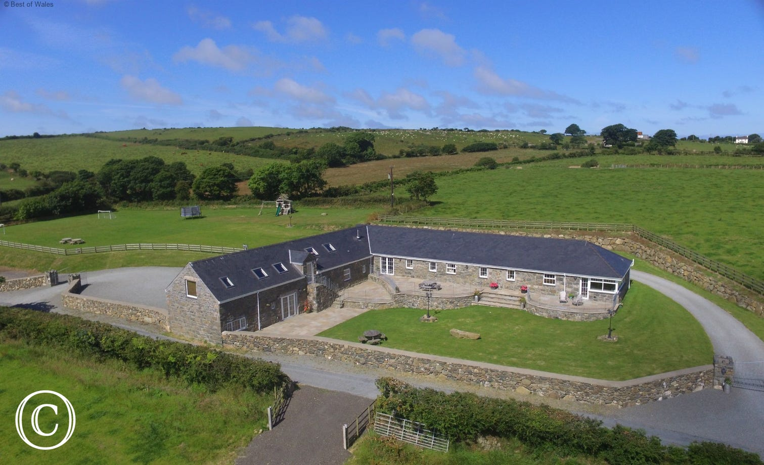 One of two large, luxury cottages in beautiful North Wales countyside