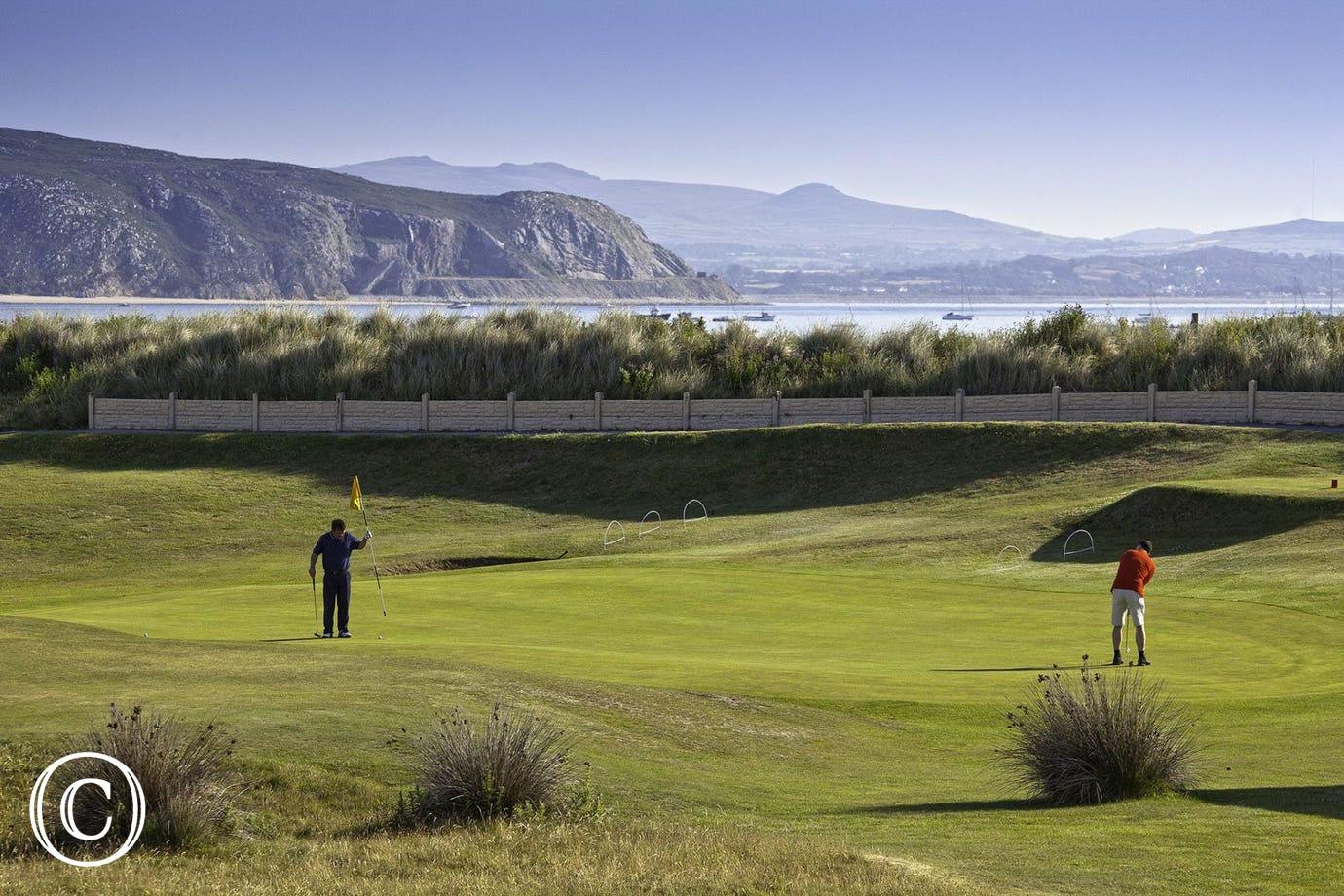 Abersoch's 18 hole golf course, adjoining the beach