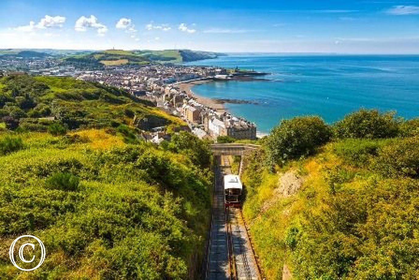 View from Constitution Hill in Aberystwyth