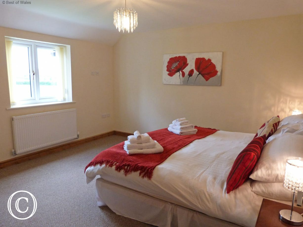 Super king size bed. Luxury self catering in North Wales