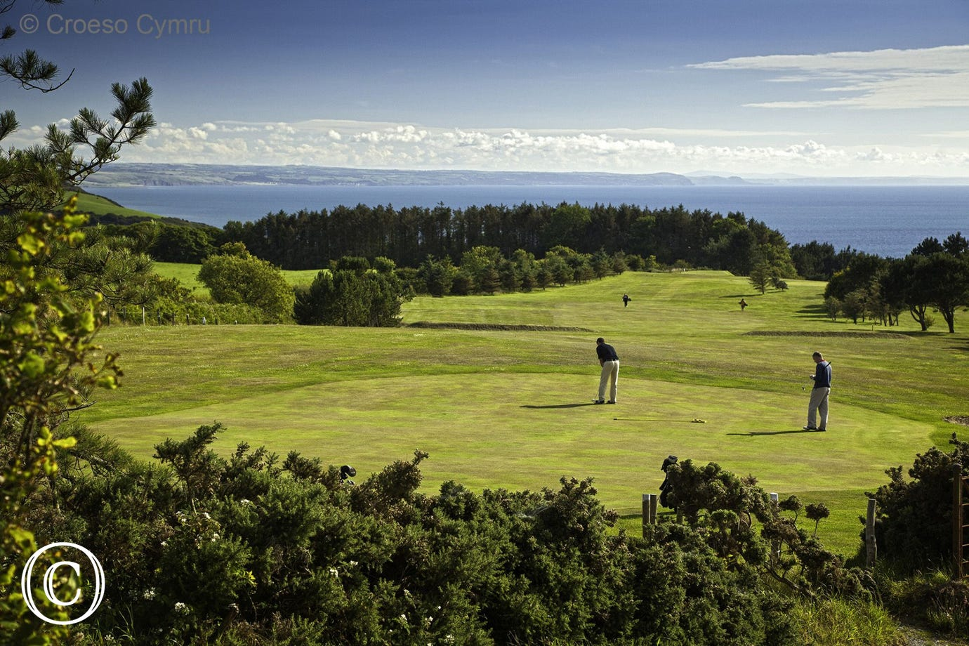 Enjoy a round of golf with amazing sea views at Aberystwyth Golf Club